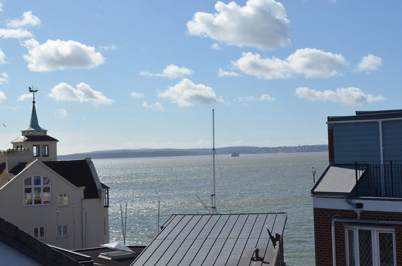 Roof top view out to the Isle of Wight