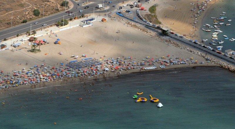 Vista aérea de playa de los náufragos