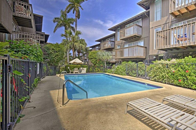 El condominio de alquiler de vacaciones se encuentra en el complejo de condominios Malia Kai.