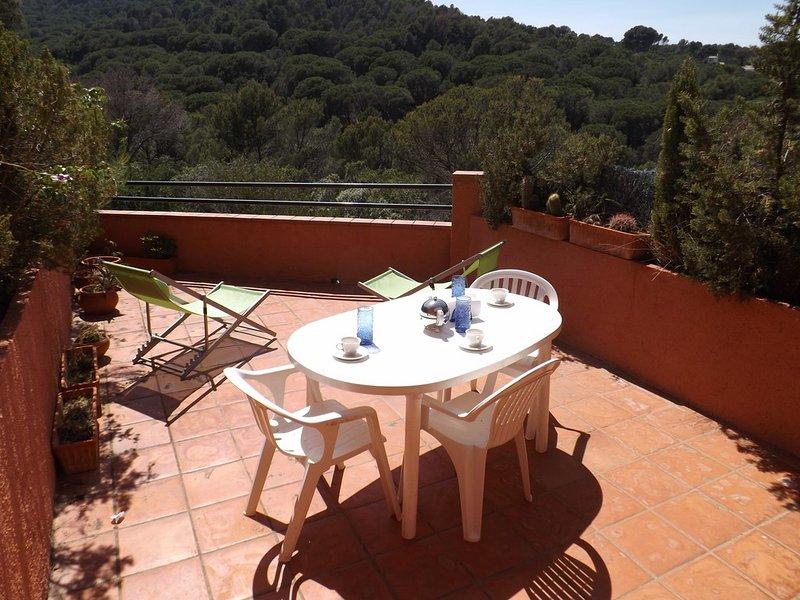 terrace with montain views-SA PUNTA COSTA BRAVA