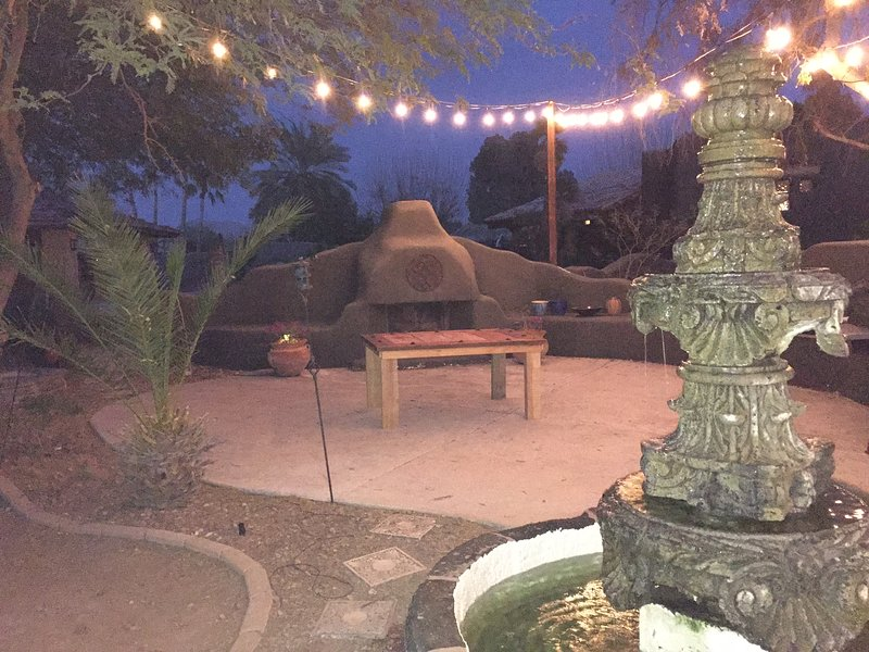 Barbecue and patio area