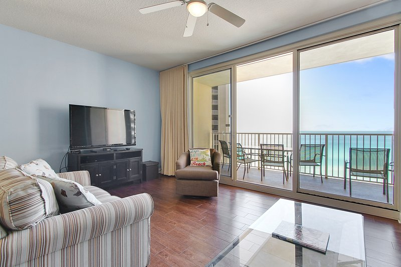 Shores of Panama 1421-Living Area with view of the gulf