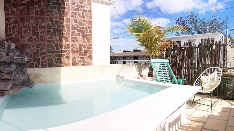 Terraço privado com piscina chillin