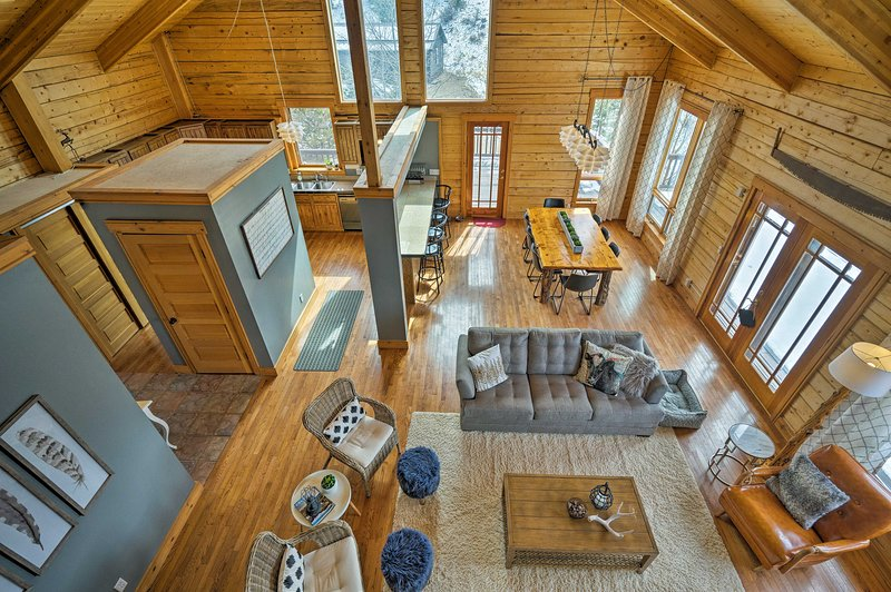 Take a break from reality in this 4-bedroom, 2.5-bath vacation rental cabin.