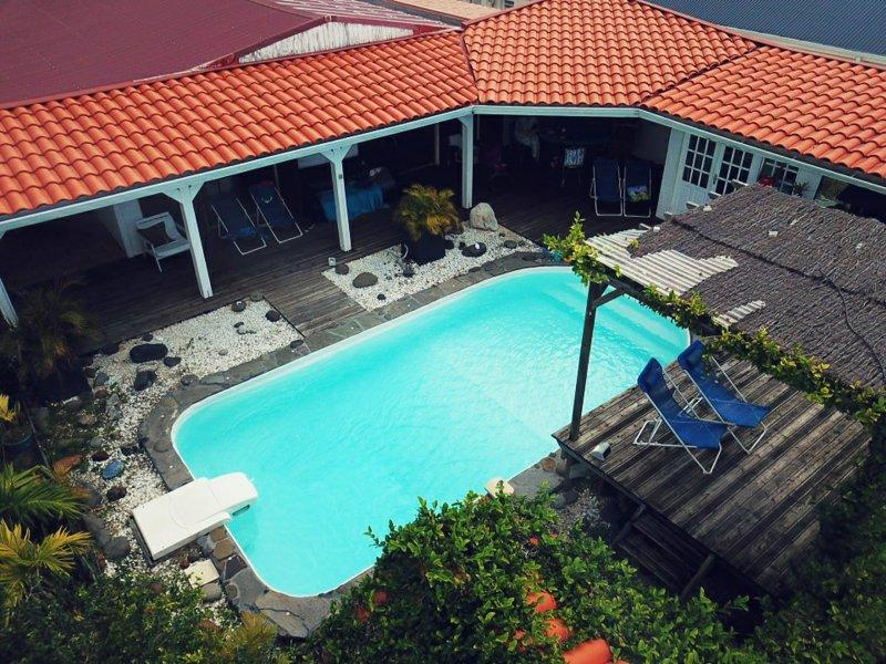 Villa vue mer/montagne avec piscine privée, location de vacances à Le Gosier