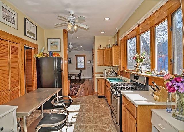 A cozinha.