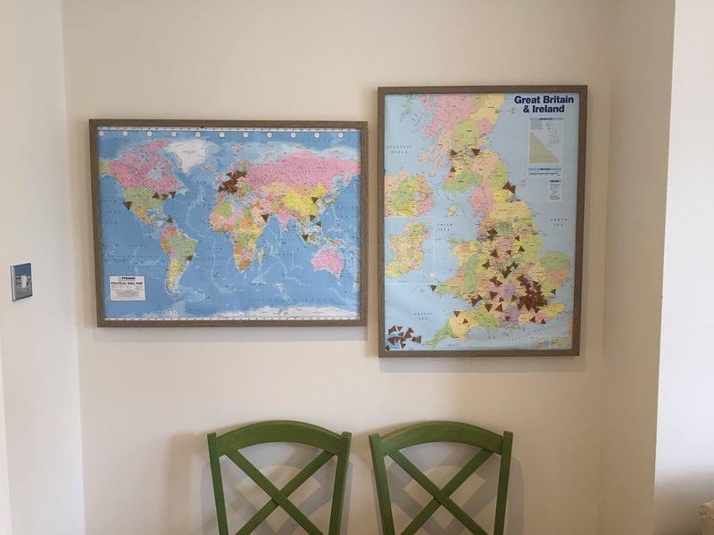 Mapa que muestra donde todos nuestros clientes han llegado desde