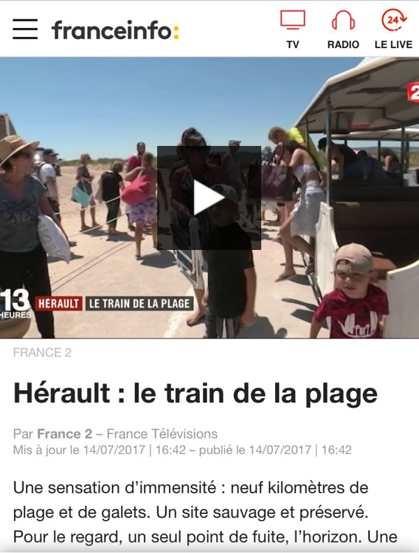 "Reportage on the train Maguelone ""train to the beach"""