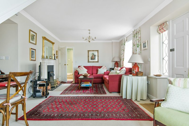 The sitting room has been furnished in the style of an Irish Georgian country house.