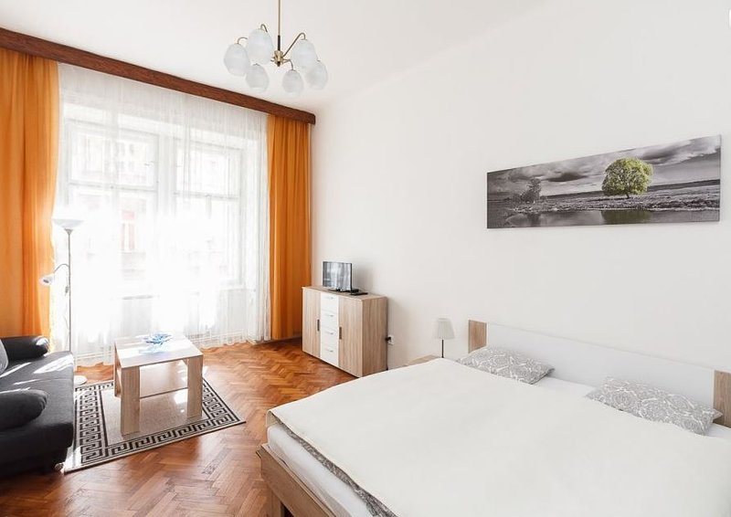 Bedroom with flat TV