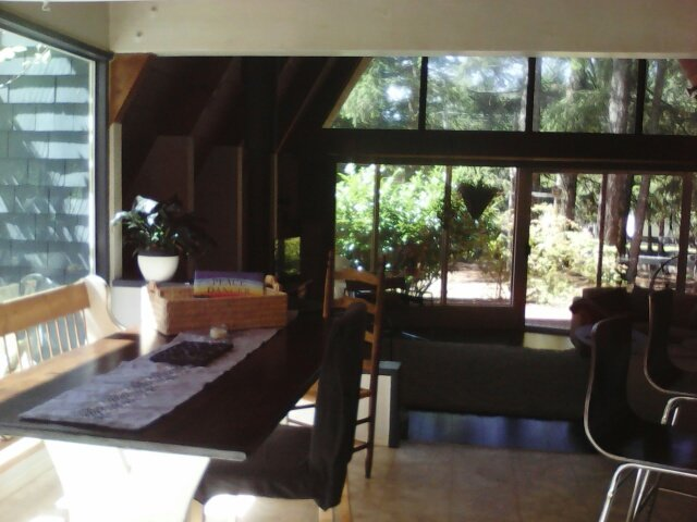 Open dining/living