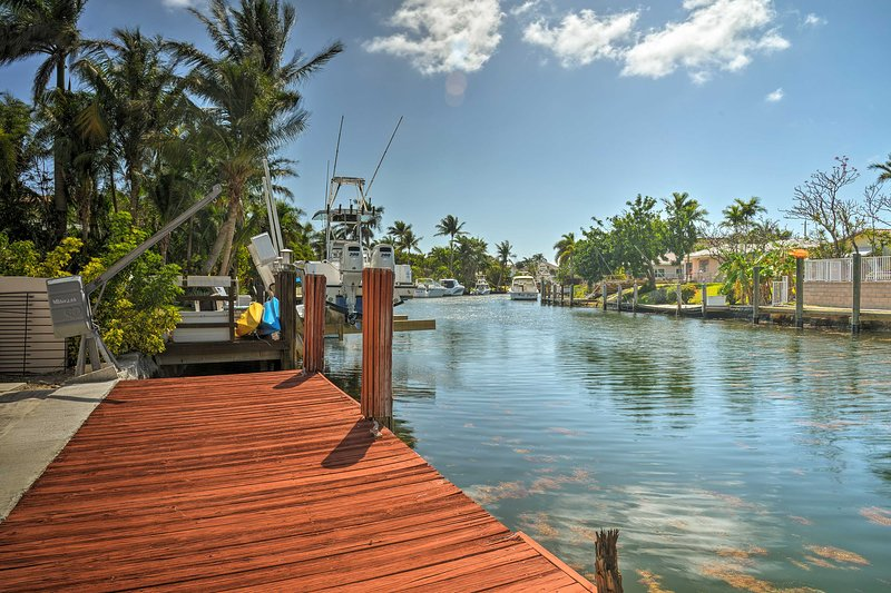 Situated on the canal, this Pomano Beach vacation rental is the perfect pick.