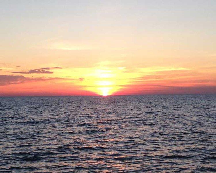 Lago Hurón es también famosa por sus puestas de sol!