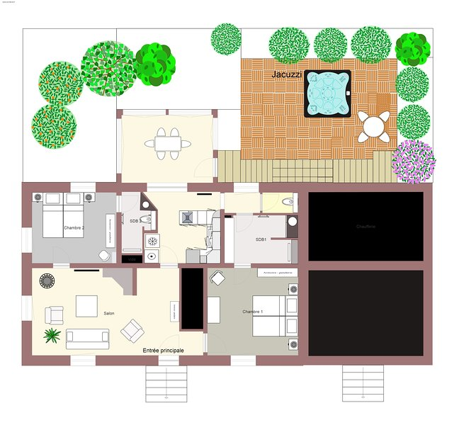 apartment and Jacuzzi Map