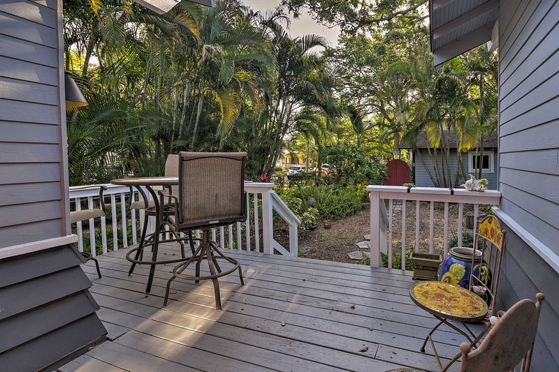 Spend leisurely afternoons on the picture-perfect patio.