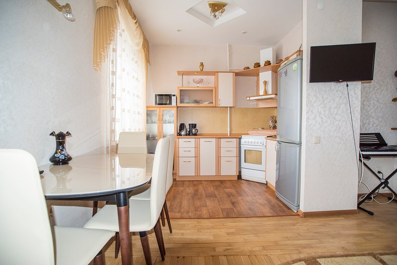 Dining area with TV and A/C