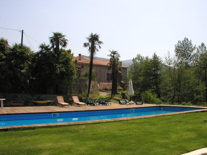 vue générale coté piscine