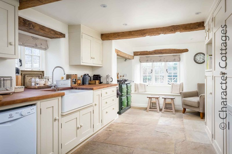 The spacious and well presented kitchen