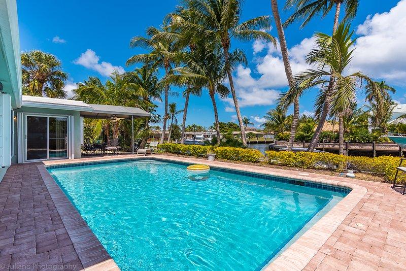 beautiful, direct-sun pool