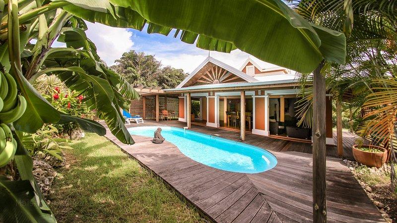 'Villa Piment Bleu St-François', piscine privée, à proximité des plages – semesterbostad i Saint Francois