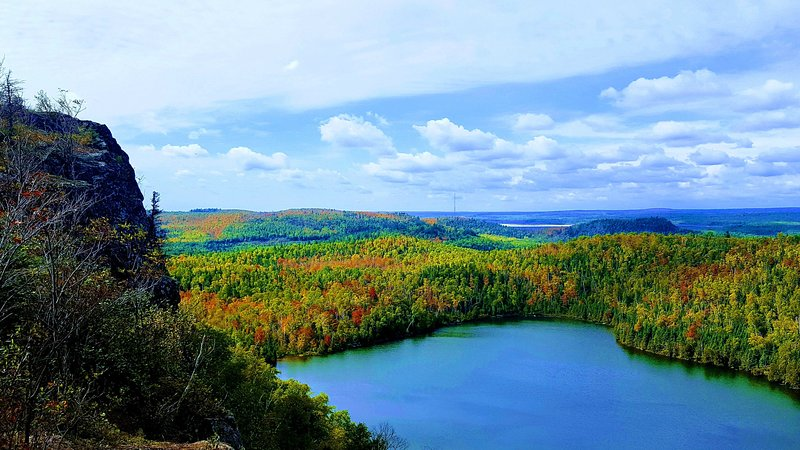 One of our favorite hikes is Bean and Bear Lake in Silver Bay just 4 miles away, especially in Fall