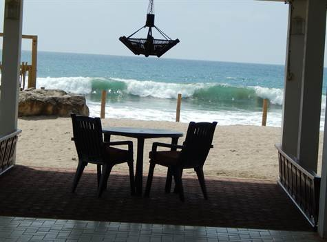 Baja patio beach and waves