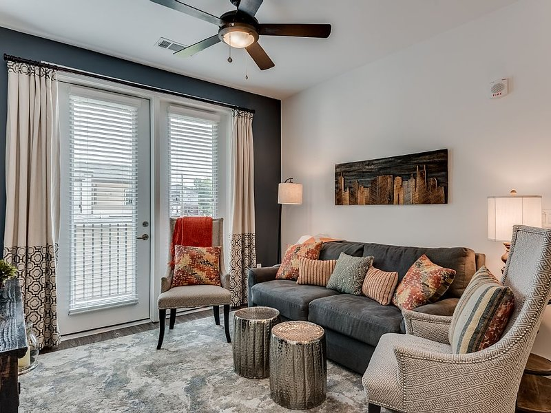 Our apartment has been furnished by local designers for a true Nashville feel.