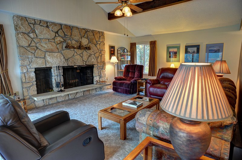 Clear Hills 646-Living room with fireplace