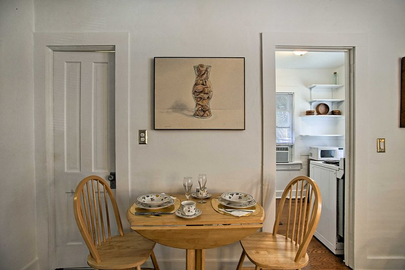 Enjoy breakfast at the 2-person dinette next to the kitchen.