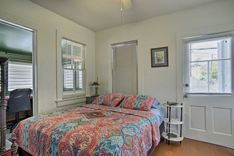 There is ample natural sunlight in the bedroom.