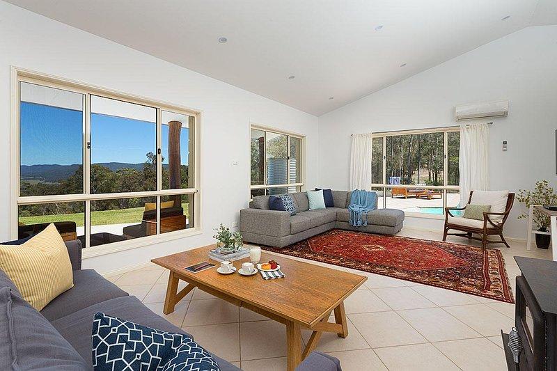Hunter Valley Unterkunft - Alphawood - Mount View - Wohnzimmer