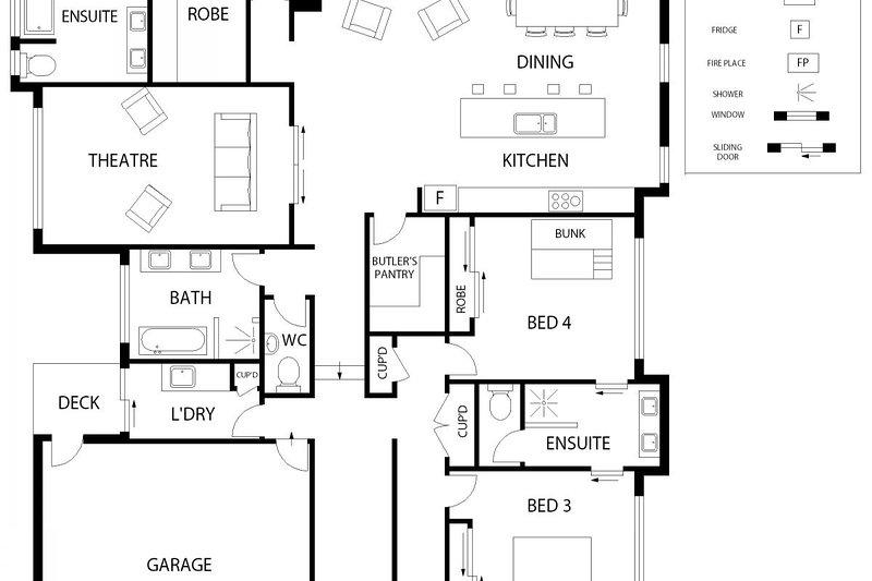 Hunter Valley Accommodation - Lomandra Retreat - Floor Plan