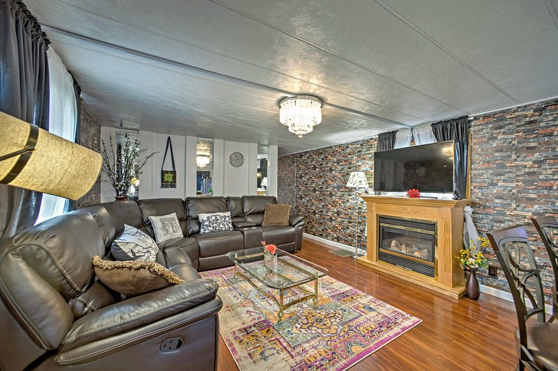 Make memories when you stay at this 3-bedroom, 1.5-bath vacation rental house.