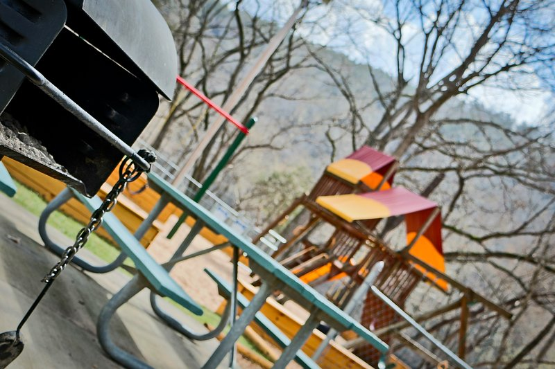 Outdoor picnic and play areas