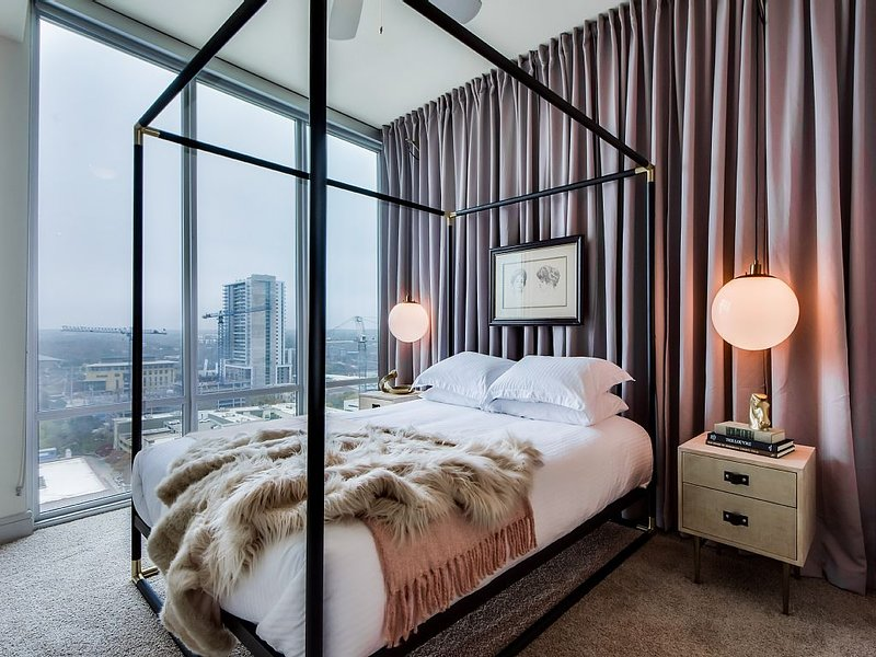 The ultra-luxurious bedroom makes the perfect haven.
