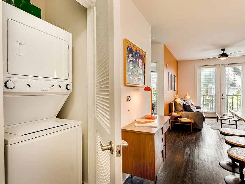 Our apartment also has a washer and dryer for you to use during your stay.