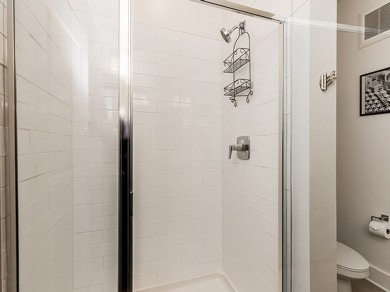 The master bath also has a walk in shower for your enjoyment.