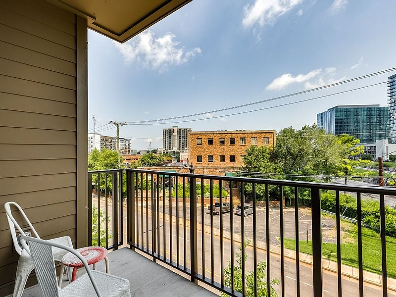 Enjoy views of Nashville from our balcony.