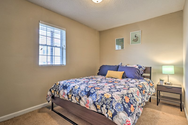 You'll feel right at home in this comfortable bedroom with everything you need.