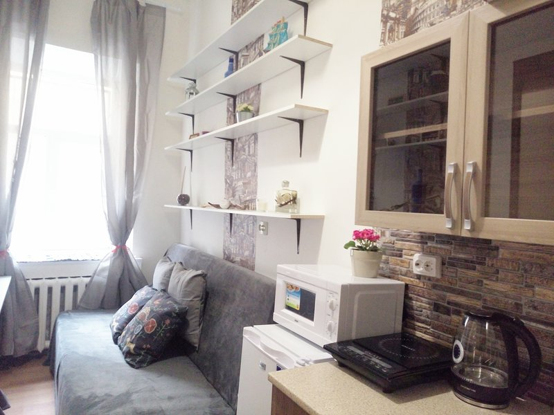 New compact 2-storey apartment in the center, renovated in 2018, holiday rental in Staro-Panovo