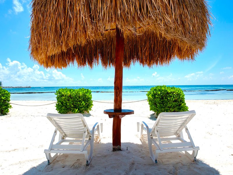 Riviera Maya Haciendas, Casa Arena -  The White Sandy Fatima Bay Beach - Great Snorkeling