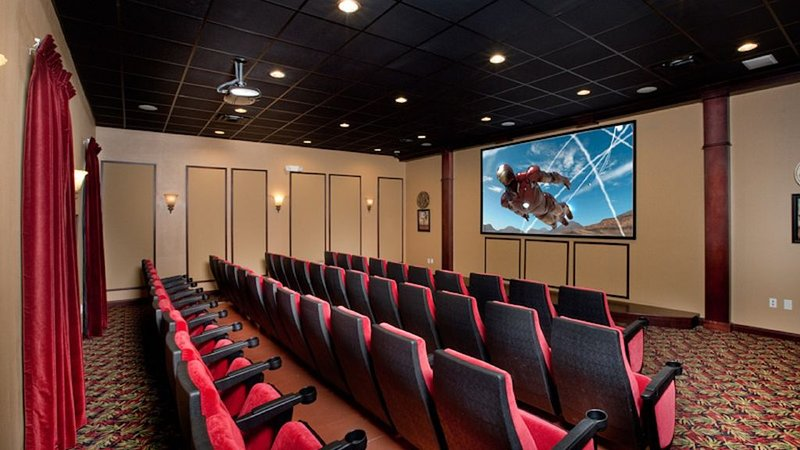 Movie theatre in clubhouse