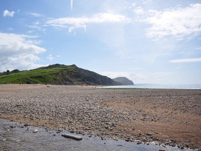 spiaggia Charmouth raggiungibile a piedi