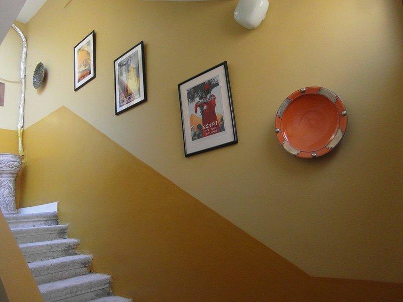 Escaleras de alojamiento plana