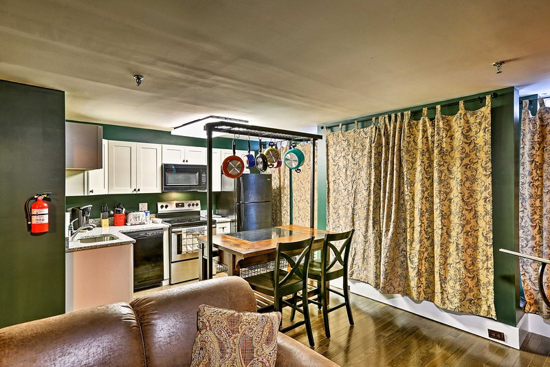 Mit Betten für 5, ist dieses Studio ideal für Familien.
