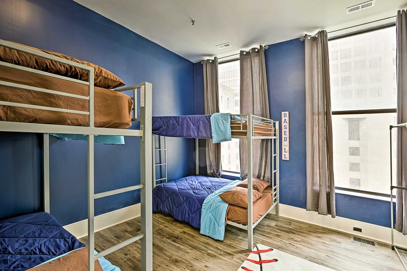 Perfect for friends, this room sleeps 8.