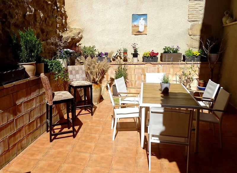 El patio de la Casa de Anais