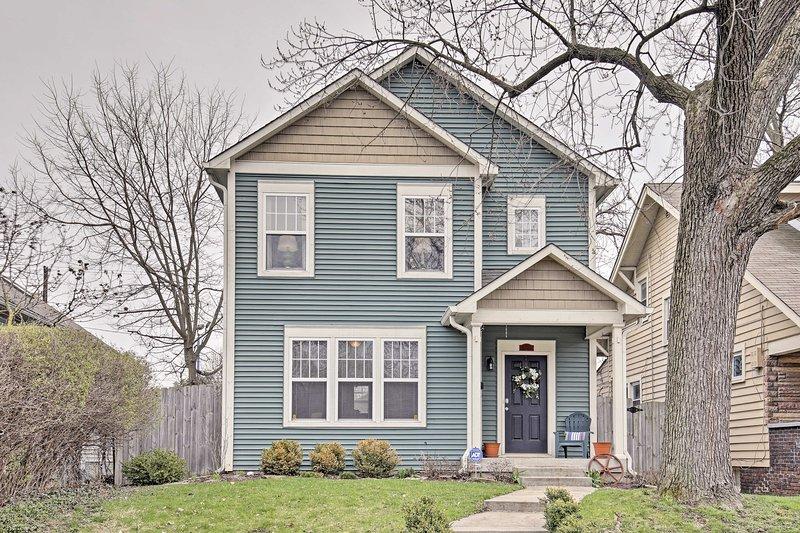 Esta casa se encuentra a sólo minutos de toda la emoción del centro de Indy!