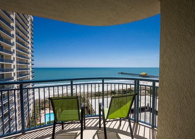 Incredible view from 3 bedroom condo at brighton towers in kingston plantation myrtle beach sc for 3 bedroom condo myrtle beach sc
