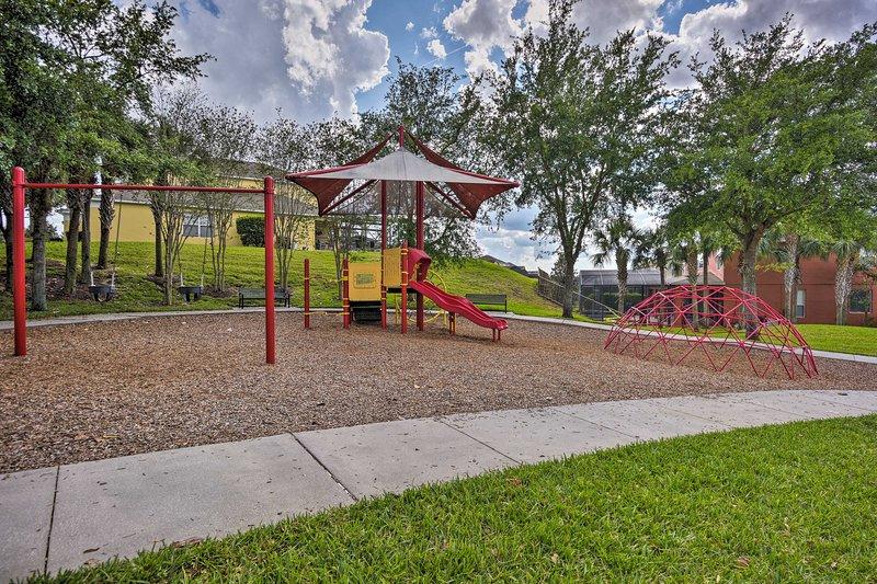 Seus filhos vão gostar de jogar no playground comunidade.